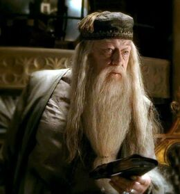 Dumbledore holding Tom Riddle's Diary 01