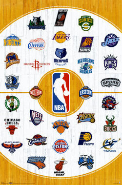 NBA logos poster