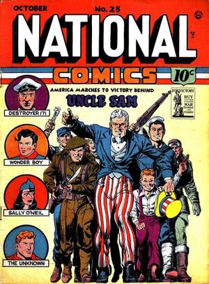 Cover for National Comics #25