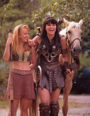 Xena and Gabrielle furies