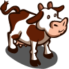 Red Brown Cow-icon