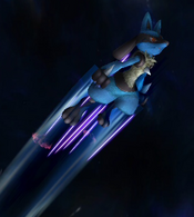 Lucario usando velocidad extrema SSBB
