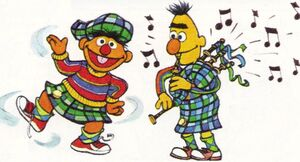 Bagpipes ernie bert