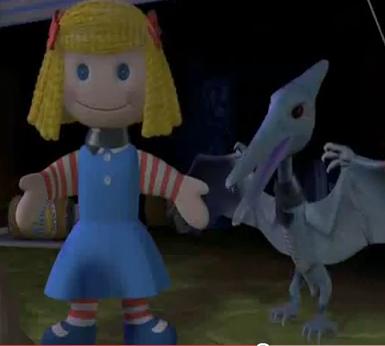 Janie and Pterodactyl - Pixar Wiki - Disney Pixar ...