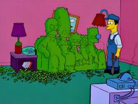 Simpsons Opening Couch Gag Season 13 (With Gardener Trimming Hedge Into Shape of Family)