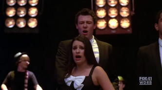 1x14 Finn and Rachel in Hello Goodbye