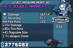 HX 5 Double Anarchy OBY