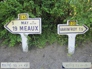 Poteau direction 60D043D20 - Varinfroy