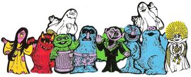 Count&#39;s Colorforms Castle characters j