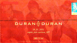 Ticket 28 jan 2001 duran