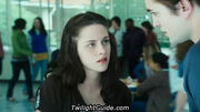 Bella and edward at school