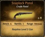 Snaplock Pistol