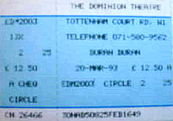 Ticket duran duran 20 march 1993