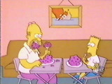 Bart and Homer Eat Dinner