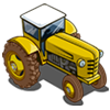 Bright Yellow Tractor-icon