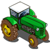 Green Tractor-icon