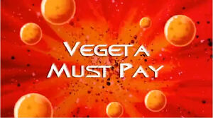 Vegeta Must Pay