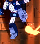 SOSDinobots Jazz avoids fire