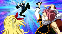Natsu beats Gray