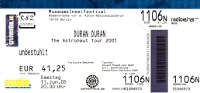 Ticket duran duran 11 june 2005 berlin 200
