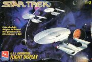 AMT Model kit 8787 3-piece USS Enterprise Flight Display Set 1995
