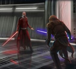 Revan fights Malak