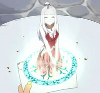 Mirajane as a Magic Letter