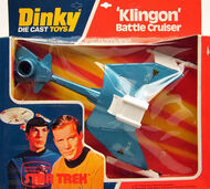 Dinky Toys Klingon Battle Cruiser bubblepack 1977