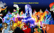 Timon and Pumbaa's World of Color Poster