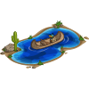 Lake with Canoe-icon