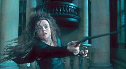 Bellatrix Lestrange holding the Godric Gryffindor&#39;s sword