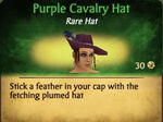 Purple Cavalry Hat