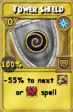 Tower Shield Treasure Card