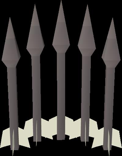 An iron bolt