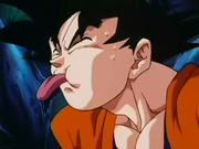 Kakarot's huge tongue