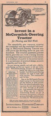 Nov, 1923 McCormick-Deering advert