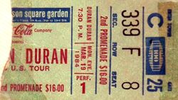 DURAN DURAN TICKET DD1984 SYN264