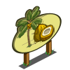 Golden Malayan Coconut Tree Mastery Sign-icon