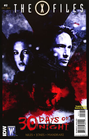 Cover for X-Files/30 Days of Night #2