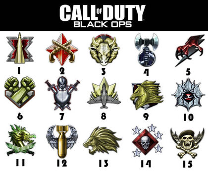 call of duty black ops prestige badges. Are the adgeprestige symbols