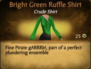 Bright Green Ruffle Shirt