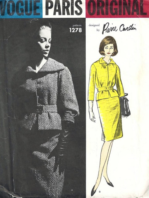 Vogue 1278 Pierre Cardin 1960s Vogue pattern skirt suit jacket