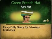 Green French Hat