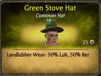 Green Stove Hat