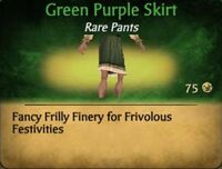 Green Purple Skirt