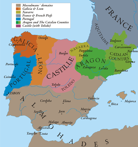 Where is The Iberian Peninsula Located on a Map World Map Iberian Peninsula