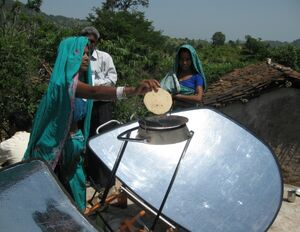 Climate Healers roti baking in India