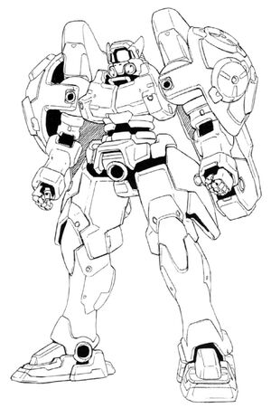 WF-02MD (OZ-03MD) Virgo II Front View Lineart