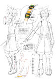 Illu Vocaloid Kagamine Len Append-sketch