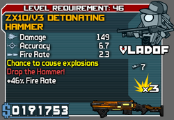 Zx10v3 detonating hammer
